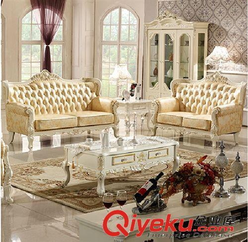 别墅会所高档欧式真皮沙发,欧式沙发客厅组合家具批发厂家直销