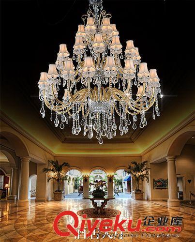 厂家定制 欧式奢华led水晶吊灯酒店大堂灯复式楼客厅灯饰灯具