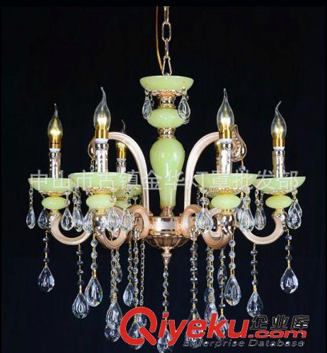 欧式仿古锌合金水晶led蜡烛吊灯