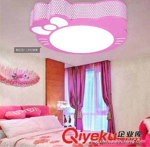 儿童j卧室灯粉红色kt猫卡通灯