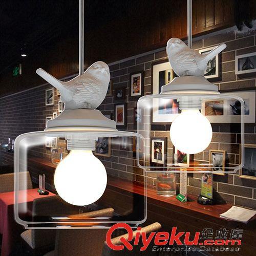 乡村现代简约个性创意餐客厅儿童房现代简约小鸟吊灯