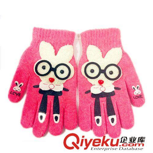 s51冬季新款五指手套 韩版女士love兔手套电脑手套批发