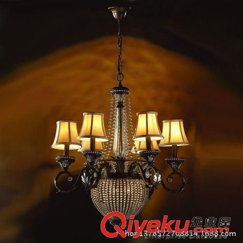 欧式铁艺吊灯 串水晶渴望款灯具 客厅卧室奢华工程手工东南亚灯饰