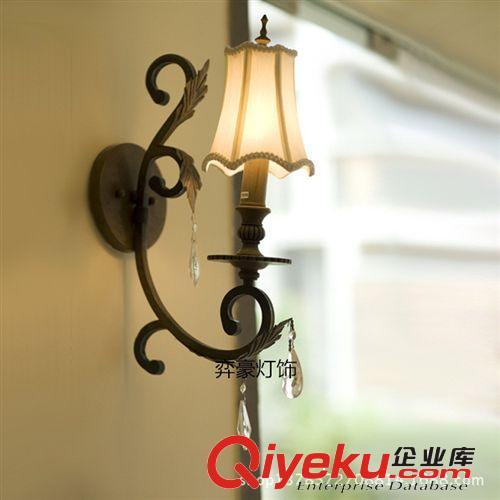 欧式铁艺单头壁灯 仿古铜色高档走廊灯具