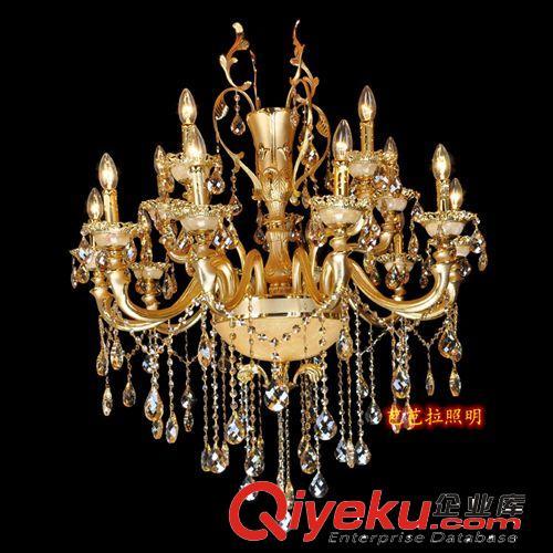 豪华欧式水晶灯吊灯 金色客厅水晶吊灯