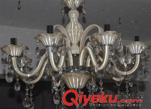 【水晶吊灯 琥珀色 欧式客厅灯】水晶吊灯