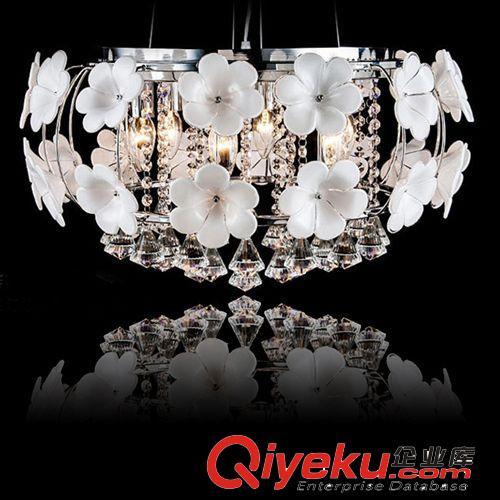 简欧式水晶吊灯 水晶花现代客厅led灯具鸟巢灯个性灯