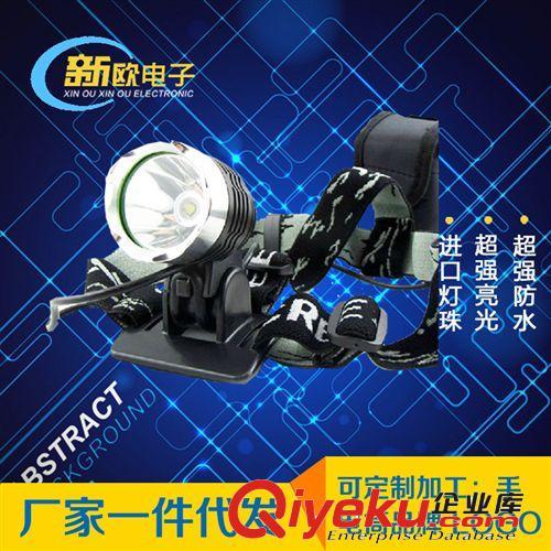 creet6大功率强光头灯 led强光充电头灯 强光锂电打猎头灯led黄光