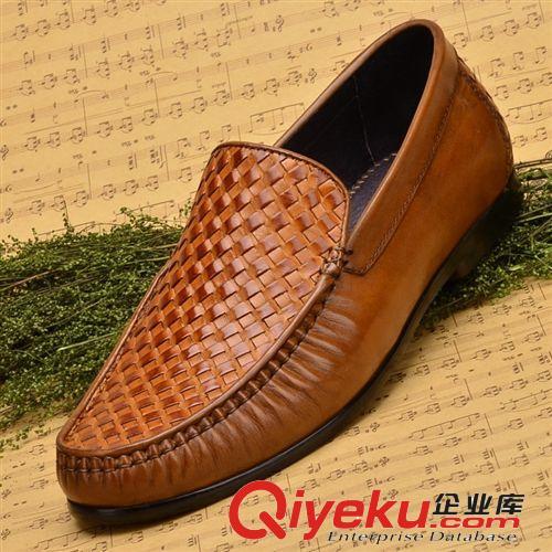 订货款 广东鹤山工厂直供高端商务皮鞋 编织正装鞋 手工改色工艺(图)