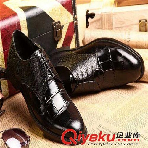 正装皮鞋 批发代理 型男绅士高端大气黑色皮鞋牛皮 男式婚鞋宴会商