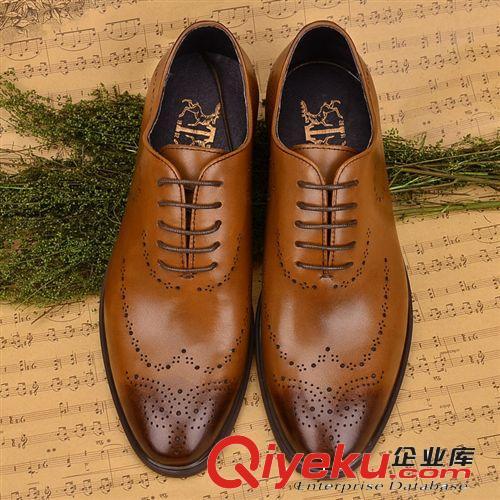 四季大众爆款永不过时 广东鹤山鞋厂直供 雕花正装皮鞋 经典商务皮鞋