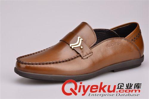 鹤山工厂直供商务休闲鞋 男士必备皮鞋 头层牛皮图片由鹤山市沙坪精工