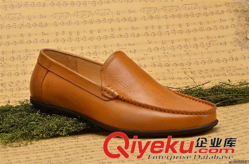 广东鹤山鞋厂直供头层牛皮套脚男士简约商务真皮皮鞋图片由鹤山市沙坪