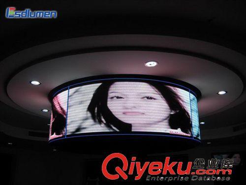 室内全彩led显示屏 商场圆柱型led广告屏,360度观看角度!