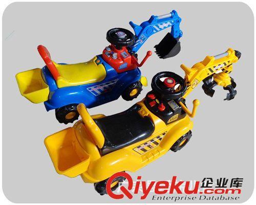 【出口童车儿童挖土机仿真儿童车可坐可骑工程车挖掘