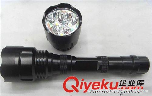 强光手电筒厂家 3核t6灯头 3800流明 铝合金手电筒 强光手电批发(图)