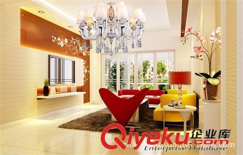 照明灯具批发led客厅吊顶水晶蜡烛灯卧室灯欧式现代