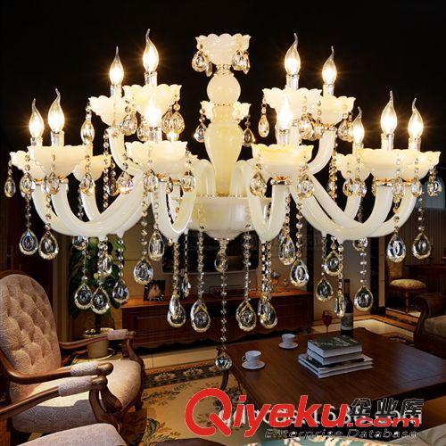 高档欧式水晶吊灯 奢华玉石水晶灯