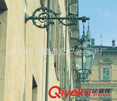 批发户外防水挑臂壁灯欧式美式仿古复古别墅走廊阳台外墙专用壁灯