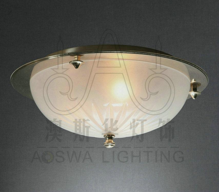 厂家直销 中山圆形客厅吸顶灯 欧式玻璃led吸顶灯