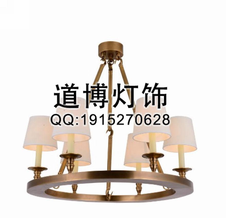 【中山古镇厂家定制商场展厅圆形欧式全铜吊灯】中山