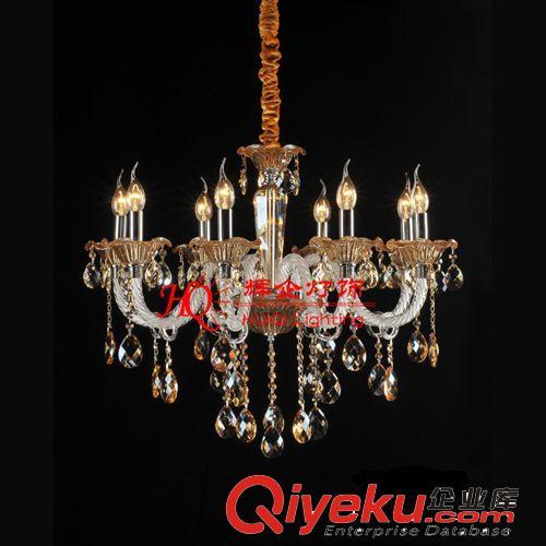 中山古镇厂家定做欧式水晶吊灯/扭纹玻璃管蜡烛灯/色