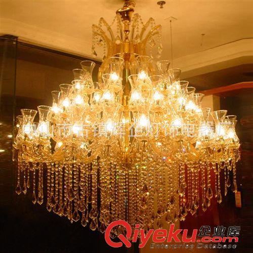 中山灯饰厂定制水晶大吊灯 欧式蜡烛灯 别墅大灯 客厅天花灯具