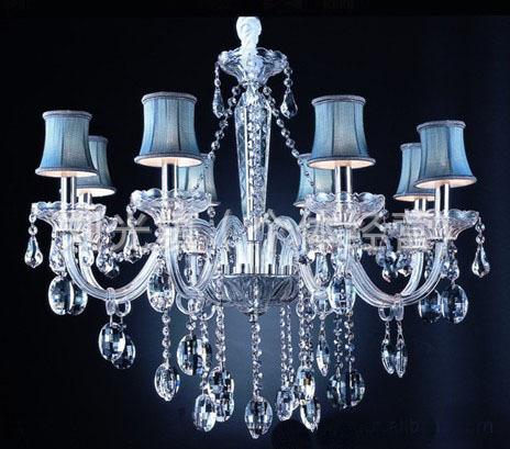 批发蜡烛水晶灯 水晶灯 现代灯 蜡烛灯 玻璃蜡烛灯 欧式水晶吊灯(图)