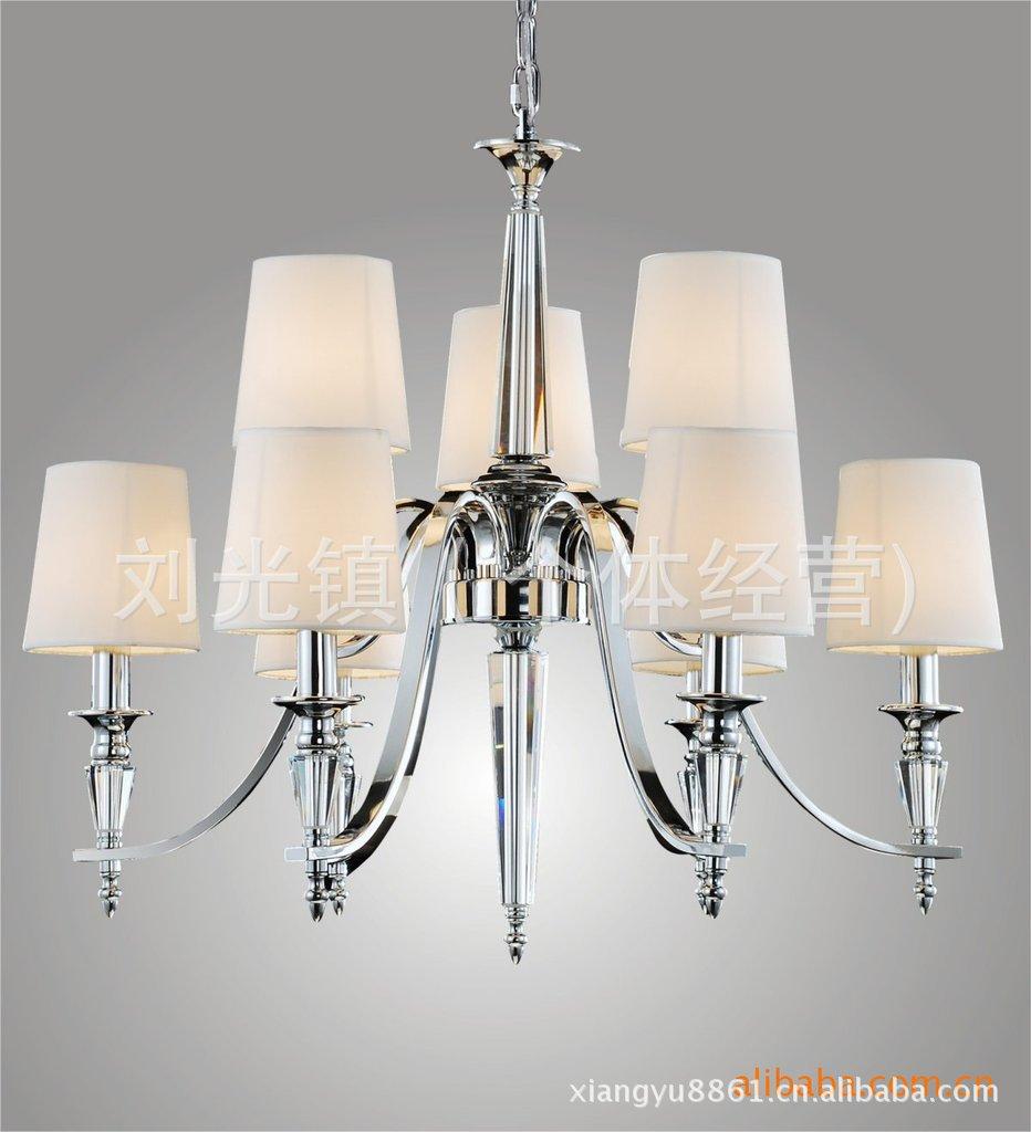 查看专业批发高档蜡烛水晶灯 楼梯灯 现代水晶灯 欧式水晶吊灯原图