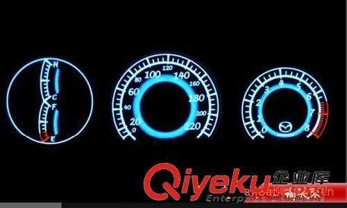 厂家直销 时尚超酷超炫的EL冷光仪表仪盘 EL发光仪表仪盘