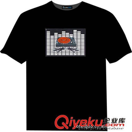 厂家直销 EL音乐T-shirt EL冷光T恤出口