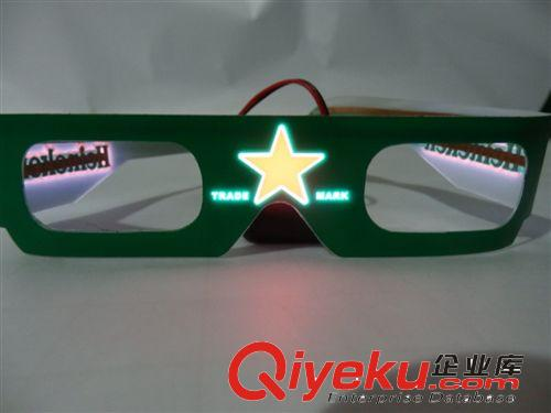 【el超薄發光眼鏡,可自己設計logo