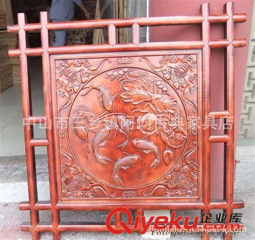 【专业品质】中式仿古木雕摆件花窗 中式酒店茶楼装饰