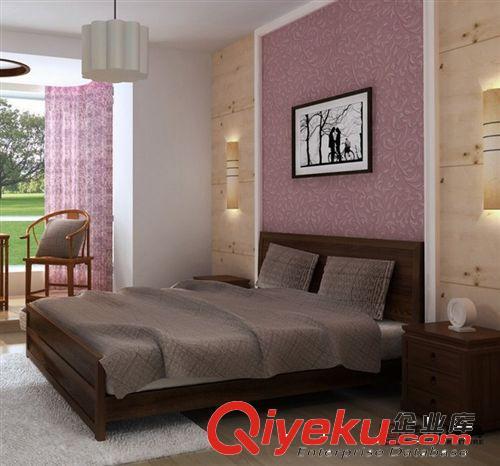 博木家具/欧式床双人床/实木床法式/新古典真皮婚床家具(图)