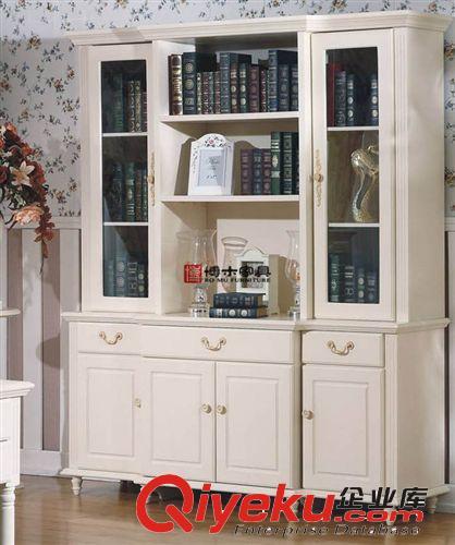 高端别墅实木组合书柜/欧式简易书柜/宜家书房书柜