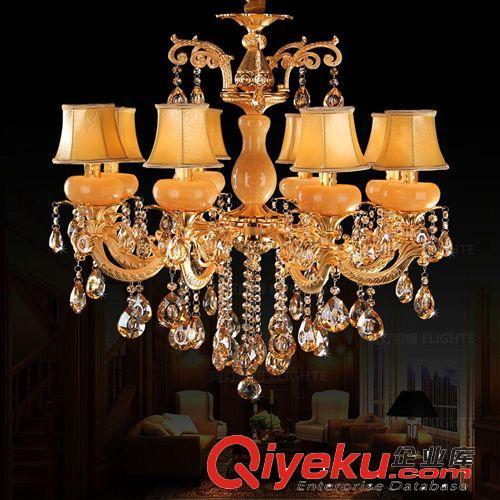 客厅灯具水晶吊灯饰餐厅卧室现代简约欧式皮艺术吊灯