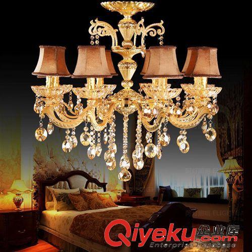 欧式客厅水晶灯吸顶灯具卧室灯饰餐厅简约艺术顶灯罩