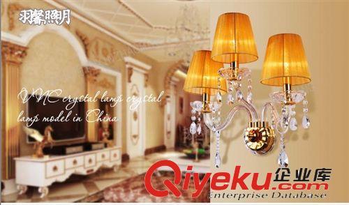 欧式水晶壁灯 卧室壁灯简约床头灯客厅双头灯具单头3