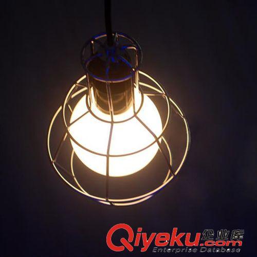 北欧铁艺宜家灯饰餐厅酒吧吊灯创意欧式灯具笼子灯架