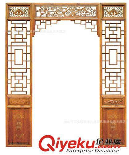 东阳木雕 中式圆头门 酒店装饰