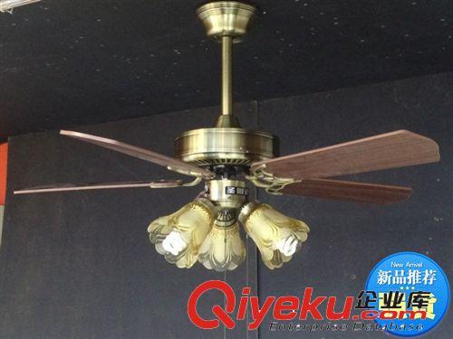 简欧式吊扇仿古风扇灯简约时尚现代电风扇餐厅吊灯地