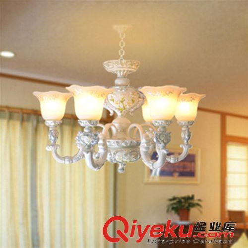 欧式吊灯 树脂欧式灯 餐厅现代吊灯 中山欧式灯 6头吊灯