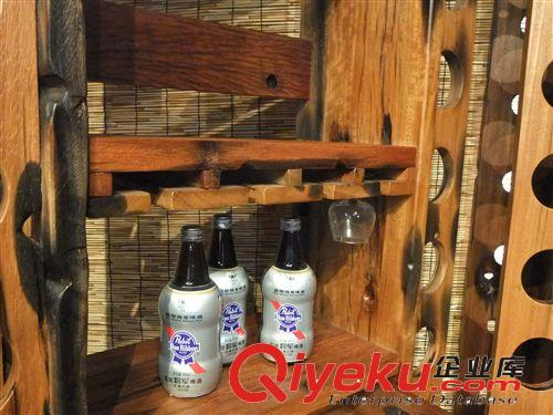 特价木制酒架 老船木实木货架 定制原木美式家具 厂家
