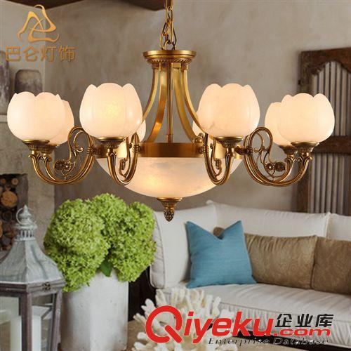 厂家批发全铜灯西班牙进口云石灯欧式吊灯 别墅客房大厅灯具3075