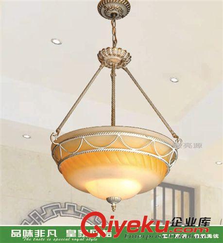 【美式铁艺欧式铜吊灯仿古灯饰客厅灯