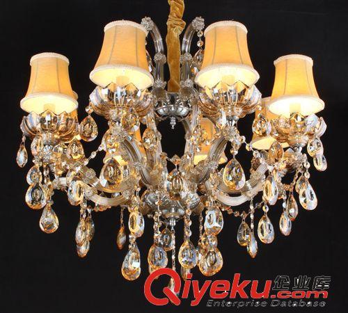 灯具批发,锌合金客厅吊灯,欧式水晶灯,创意夹片水晶吊灯