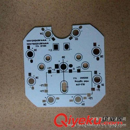 粤乾专业led铝基板 汽车工作灯pcb电路板 双面铝基板 玻纤板厂家