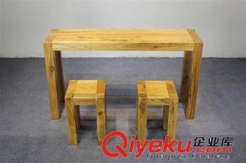 老榆木板吧台 实木台面板餐桌