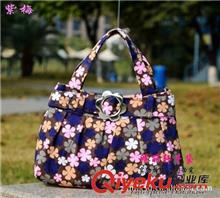 B3578厂家批发时尚帆布包可爱手提小包包手拎包布碎花女包