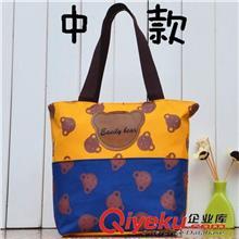 111批发牛津布手提包小熊扣子小包糖果色波点包包可爱韩版女包